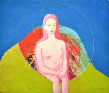 WOMAN CREATING LANDSCAPE - €331