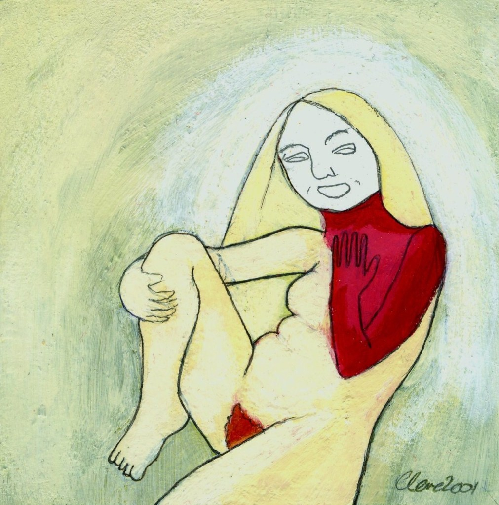 painting: laughing at anger, 2001